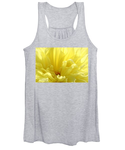 Yellow Dahlia Burst Women's Tank Top