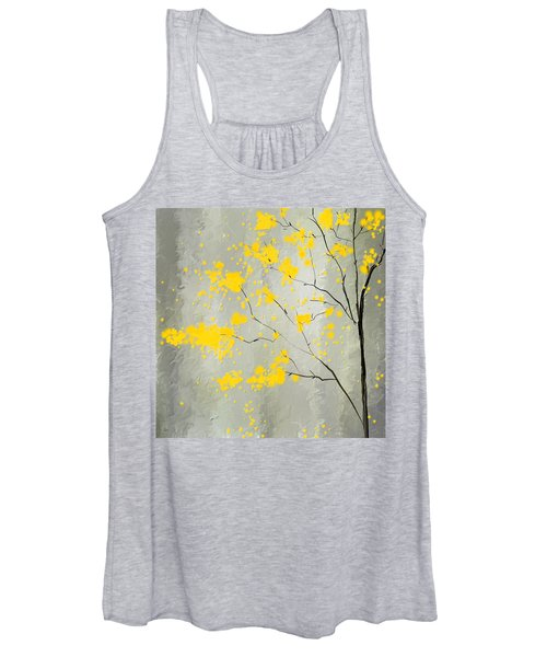 Yellow Foliage Impressionist Women's Tank Top