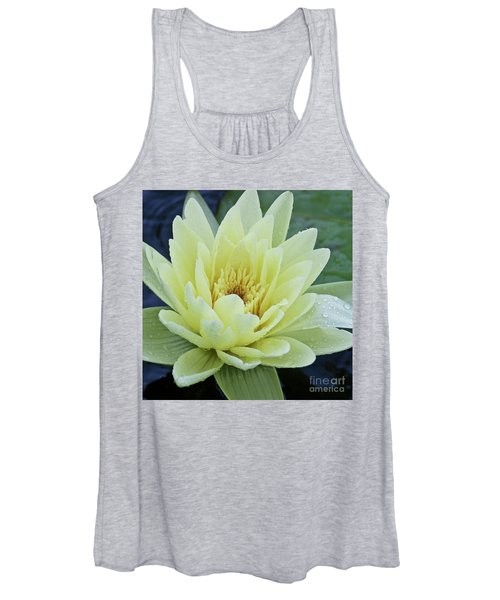 Yellow Water Lily Nymphaea Women's Tank Top