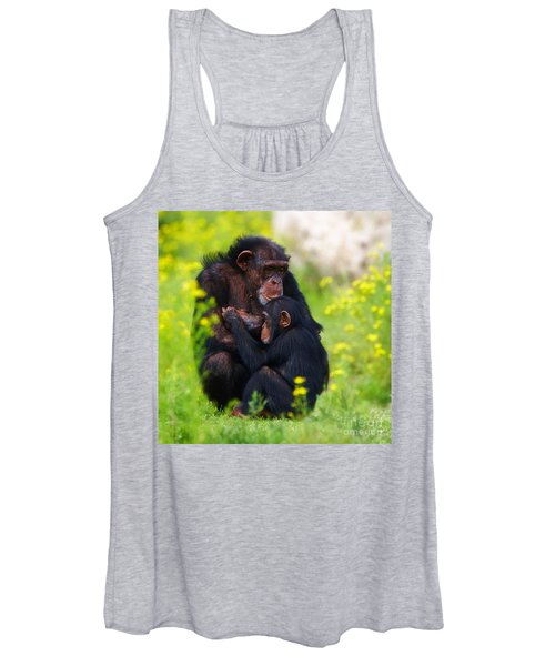 Young Chimpanzee With Adult - II Women's Tank Top