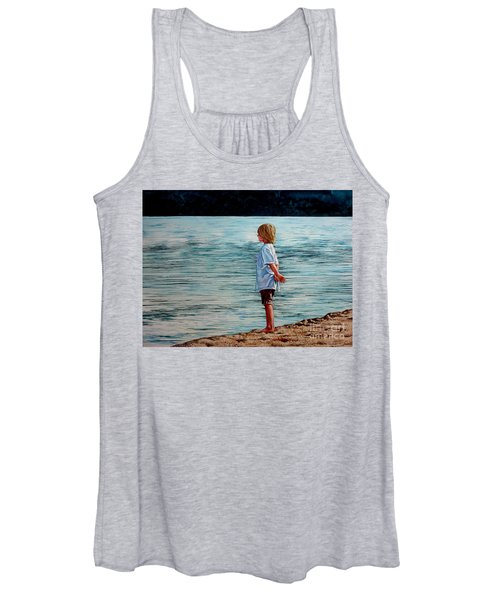 Young Lad By The Shore Women's Tank Top