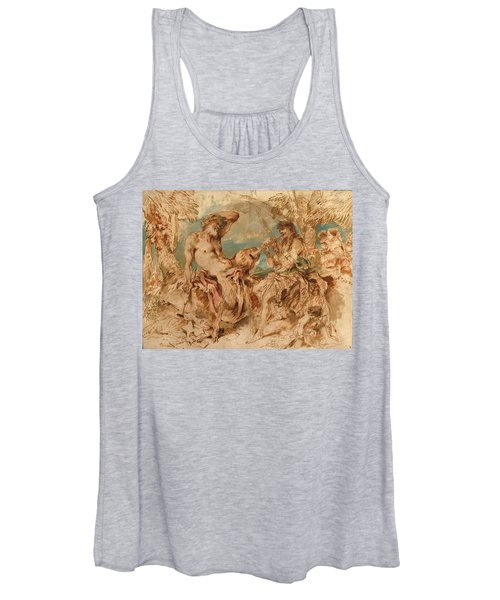 Youth Playing A Pipe For A Satyr Women's Tank Top