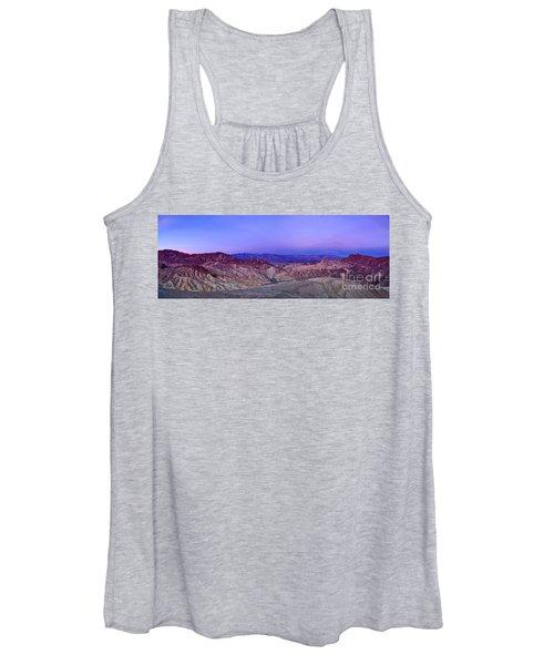 Zabriskie Sunrise Panorama - Death Valley National Park. Women's Tank Top