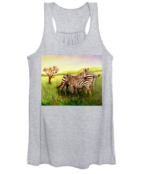 Zebras At Ngorongoro Crater Women's Tank Top