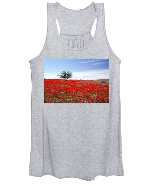 A Tree In A Red Sea Women's Tank Top