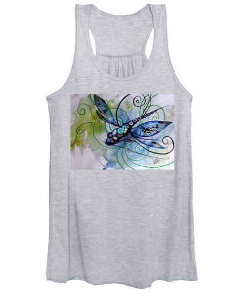Abstract Dragonfly 10 Women's Tank Top