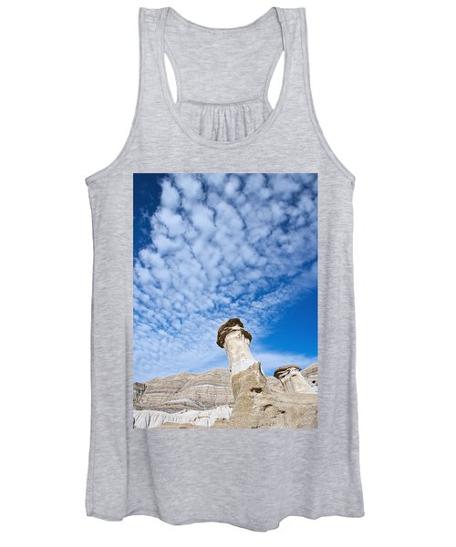 Angled Hoodoo And Clouds Women's Tank Top