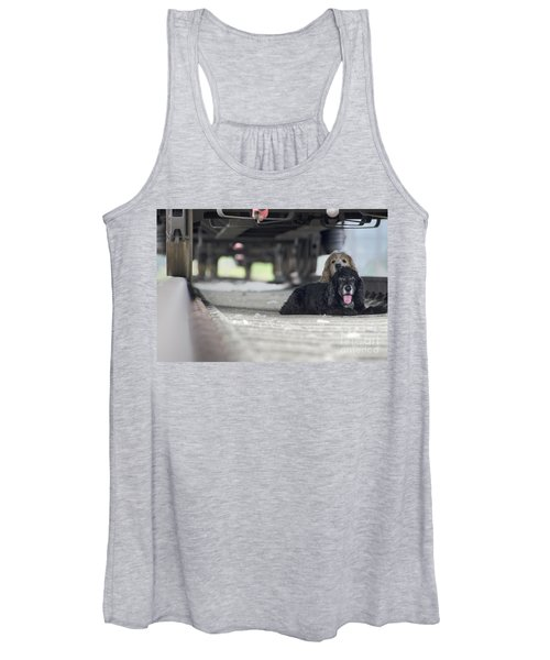 Blonde And Black Dogs Women's Tank Top