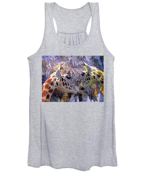 Blue Cave Giraffes Women's Tank Top