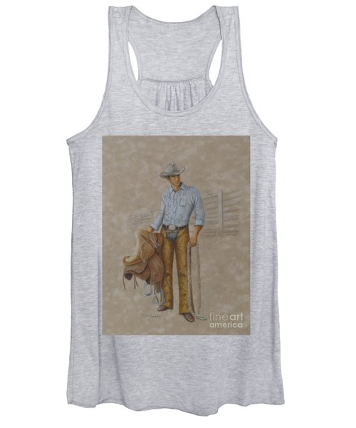Busted Bronc Rider Women's Tank Top