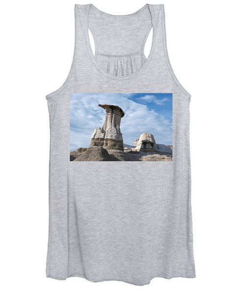 Capped Hoodoo And Clouds Women's Tank Top