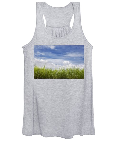 Grass And Sky With Clouds Women's Tank Top
