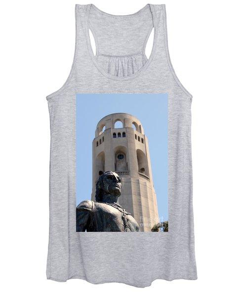 Coit Tower Statue Columbus Women's Tank Top