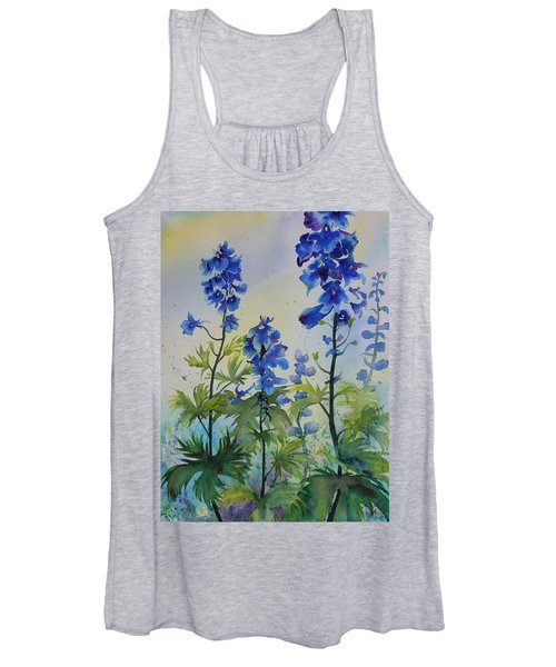 Delphiniums Women's Tank Top