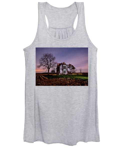 Farm House At Night Women's Tank Top