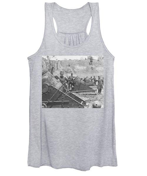Federal Siege Guns Yorktown Virginia During The American Civil War Women's Tank Top