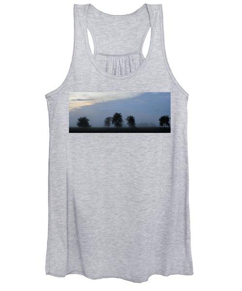 Foggy Pennsylvania Treeline Women's Tank Top