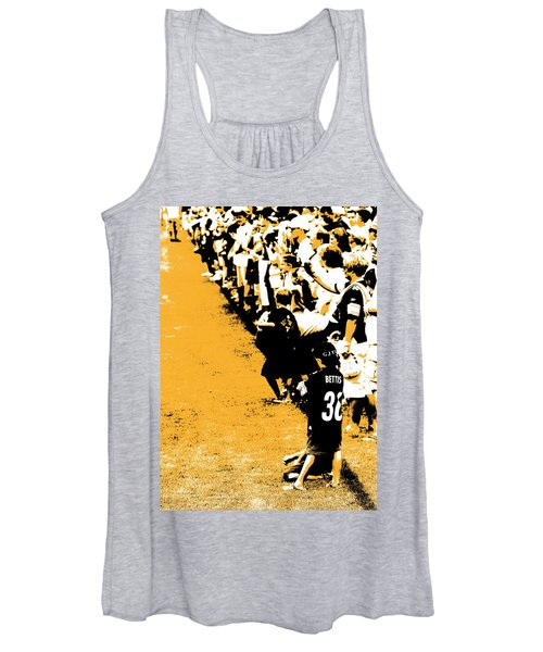 Number 1 Bettis Fan - Black And Gold Women's Tank Top