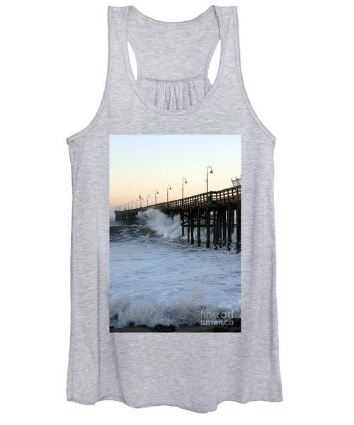 Ocean Wave Storm Pier Women's Tank Top