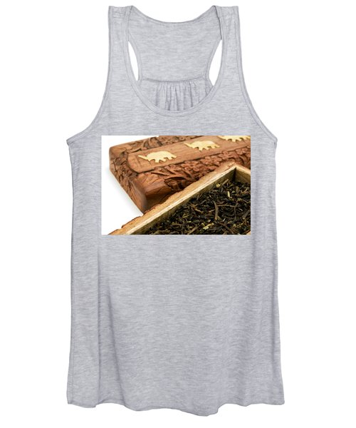 Ornate Box With Darjeeling Tea Women's Tank Top