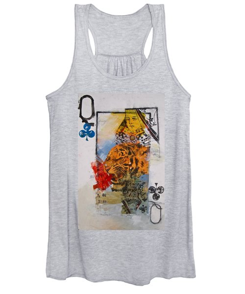 Queen Of Clubs 4-52  2nd Series  Women's Tank Top