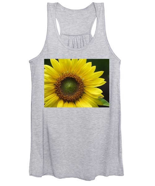 Sunflower With Insect Women's Tank Top