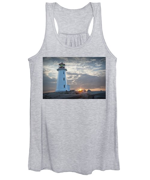 Sunrise At Peggys Cove Lighthouse In Nova Scotia Number 041 Women's Tank Top