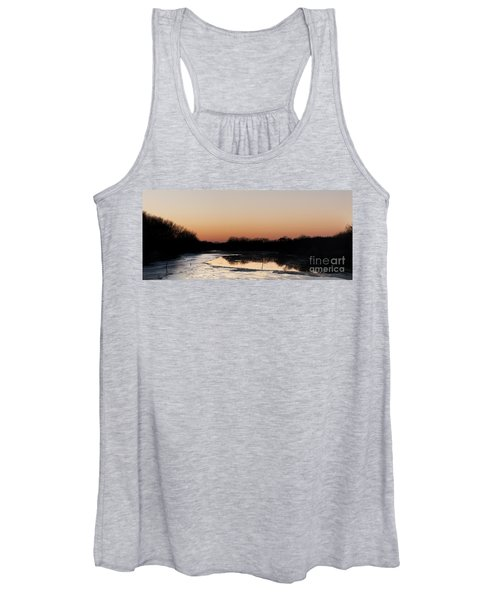 Sunset Over The Republican River Women's Tank Top