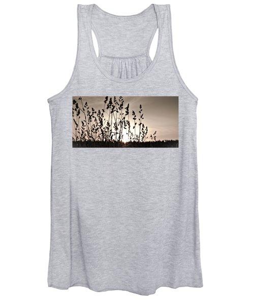 The Grass At Sunset Women's Tank Top
