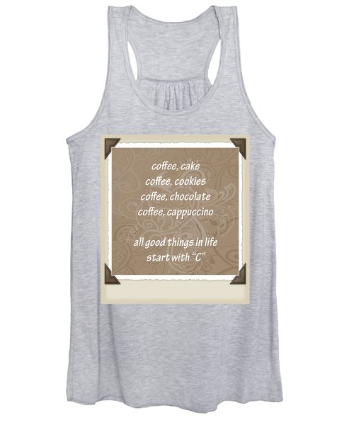 The Letter C Scrapbook Women's Tank Top