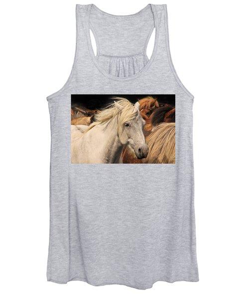 White Icelandic Horse Women's Tank Top