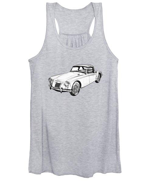 Mg Convertible Sports Car Illustration Women's Tank Top