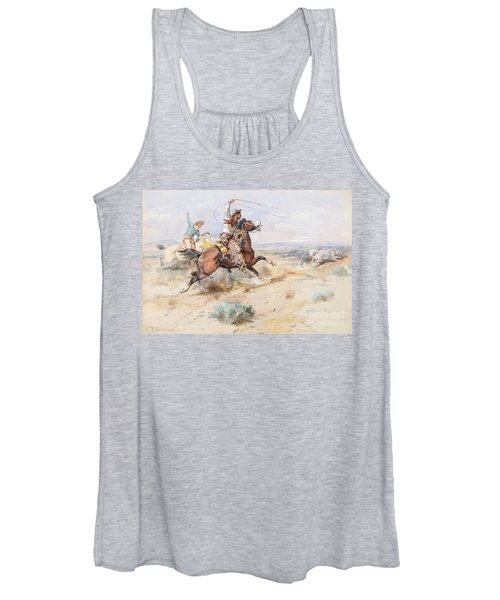 Roping A White Wolf  Women's Tank Top