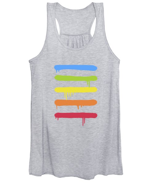 Trendy Cool Graffiti Tag Lines Women's Tank Top