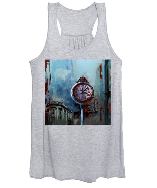 060 Milwaukee County Historical Society's Street Clock Frozen In Time Women's Tank Top