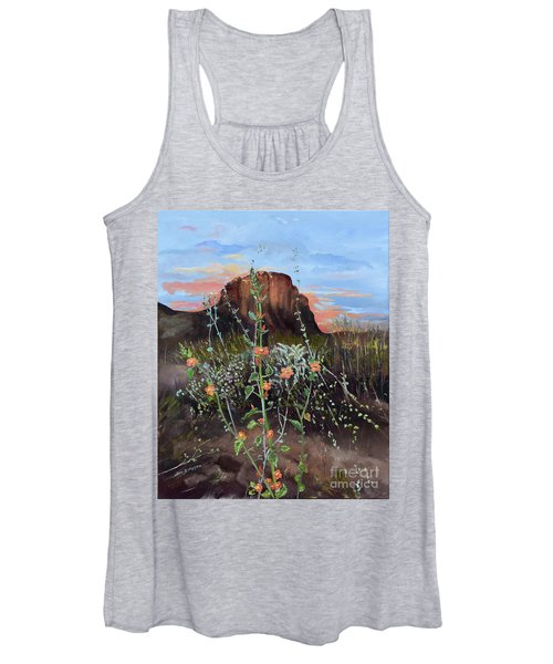 Arizona Desert Flowers-dwarf Indian Mallow Women's Tank Top