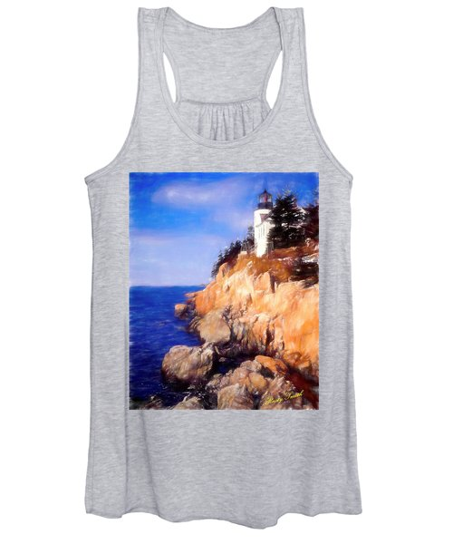Bass Harbor Lighthouse,acadia Nat. Park Maine. Women's Tank Top