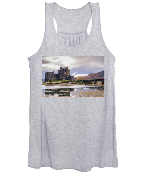 Eilean Donan Castle, Dornie, Kyle Of Lochalsh, Isle Of Skye, Scotland, Uk Women's Tank Top