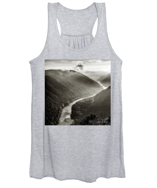 Grandview In Black And White Women's Tank Top