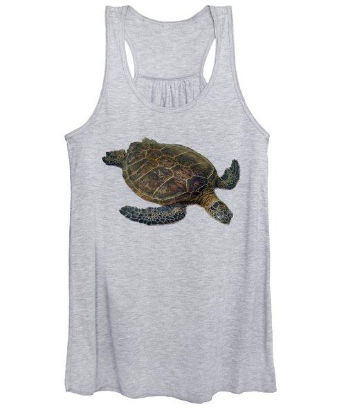 Hawaiian Sea Turtle Women's Tank Top