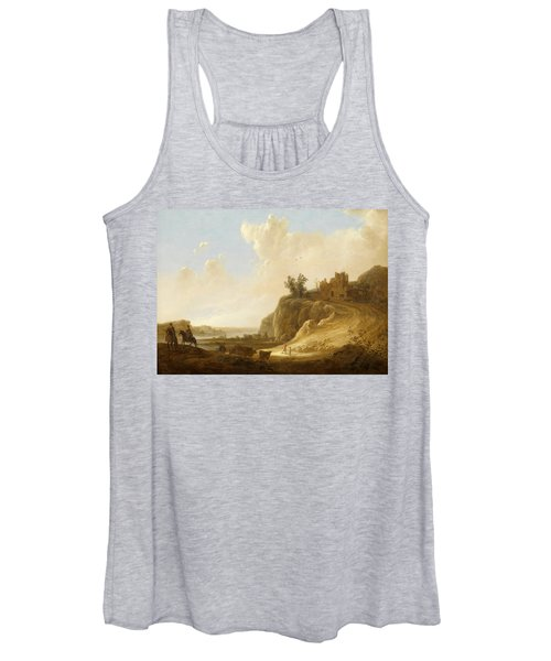 Hilly Landscape With The Ruins Of A Castle Women's Tank Top