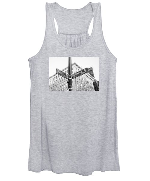 Hollywood And Vine Street Sign Women's Tank Top