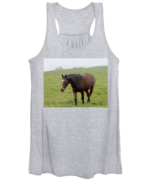 Horse In The Fog Women's Tank Top
