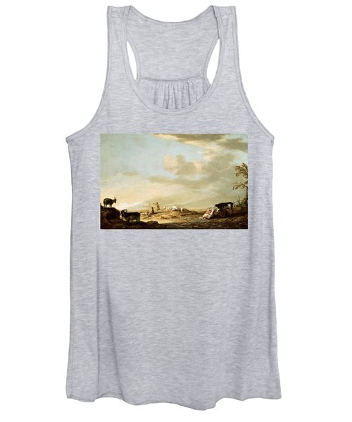 Landscape With Cattle And Figures Women's Tank Top
