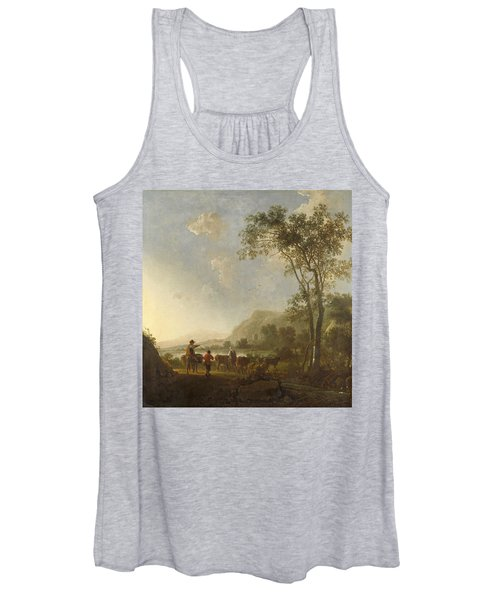 Landscape With Herdsmen And Cattle Women's Tank Top