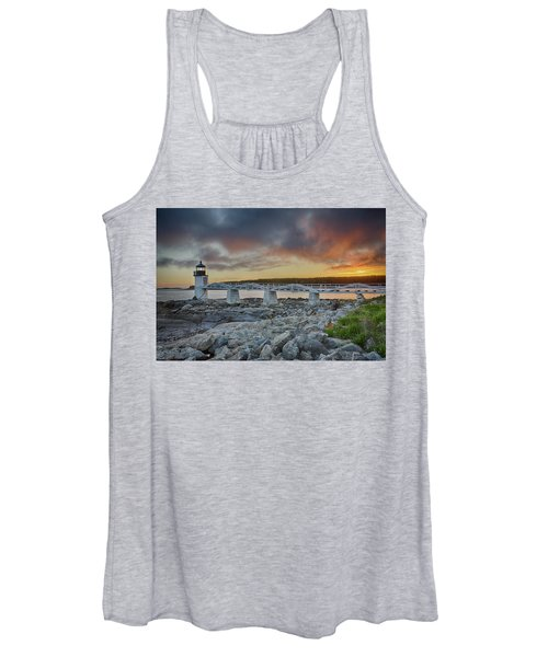 Marshall Point Lighthouse At Sunset, Maine, Usa Women's Tank Top