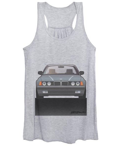 Modern Euro Icons Series Bmw E32 740i Women's Tank Top