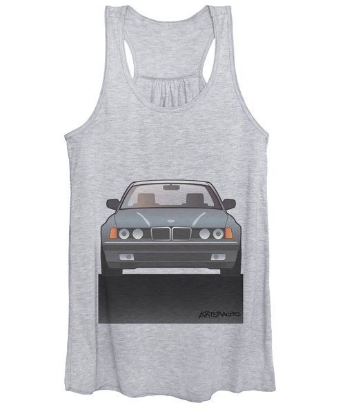 Modern Euro Icons Series Bmw E32 740i Women's Tank Top