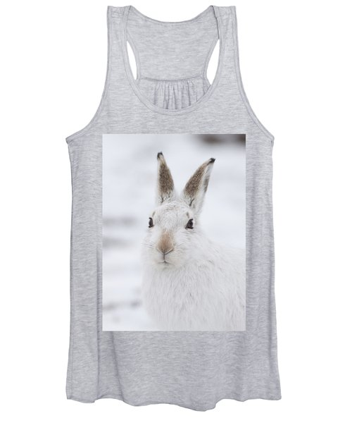 Mountain Hare In The Snow - Lepus Timidus  #1 Women's Tank Top