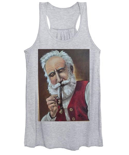 Old German With Pipe Women's Tank Top